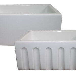PL-FC2418 Fireclay Reversible Farmhouse Sink