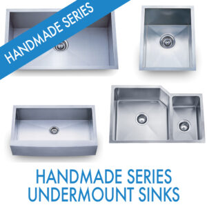 Performance Stoneworks KITCHEN Sinks-HANDMADE SERIES STAINLESS -UNDERMOUNT