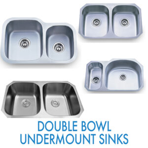 Performance Stoneworks KITCHEN Sinks-DOUBLE BOWL STAINLESS-UNDERMOUNT