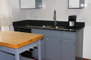 Labrador silver flake granite-Sink Area 2