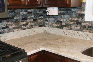 Southern Gray Granite with NVRG Backsplash-Corner
