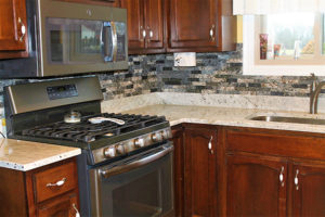 Southern Gray Granite with NVRG backsplash