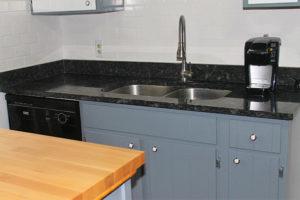 Labrador silver flake granite - Sink area