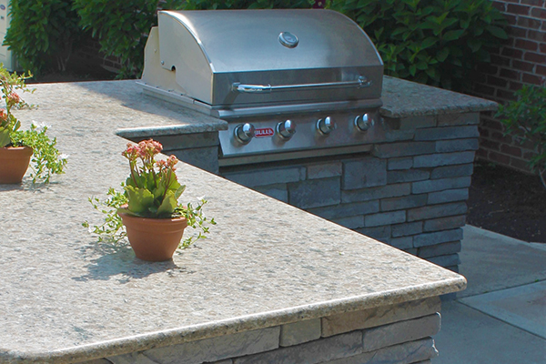 Carmello Suede Granite-Outdoor Kitchen