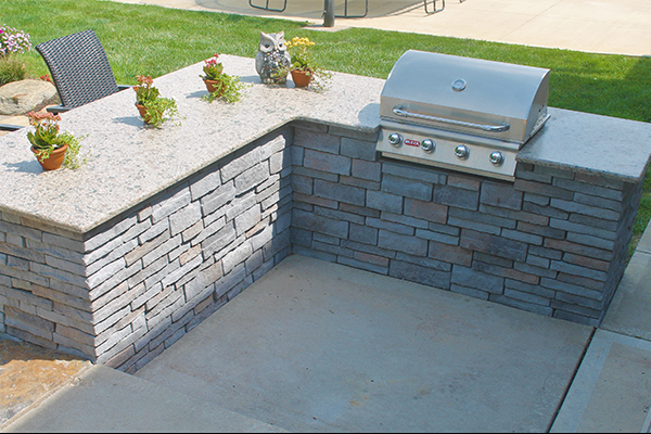 Carmello Suede Granite-Outdoor Kitchen, Performance Stoneworks, Central Indiana