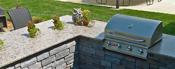 Carmello Suede Granite-Outdoor Kitchen, Performance Stoneworks, Indianapolis, Indiana