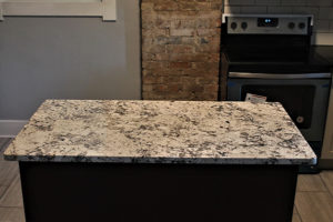 BlackBlack Pearl Granite Kitchen with Romanix Granite Island 4 Pearl Kitchen with Romanix Island