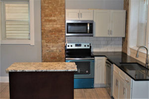 Black Pearl Granite with Romanix Granite Island Kitchen