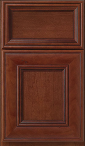 Hawthorne — Full overlay in cherry with chestnut finish and licorice glaze.