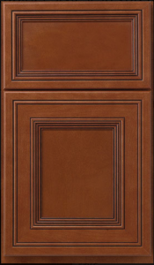 Wakefield — Full overlay in maple with a rich toffee finish and licorice glaze.