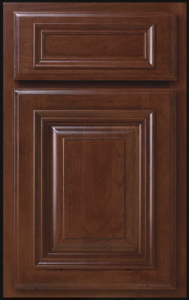 Easton Door Profile — Shown as standard overlay in cherry with cognac finish.