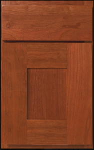 Fontana Door Profile — Shown as full overlay in cherry with pecan finish.