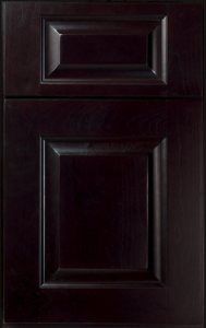 Lincoln Door Profile — Shown as standard overlay in cherry with espresso finish