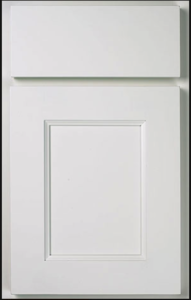 Manhattan Door Profile — Shown as standard overlay in maple with snow finish