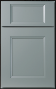 Portland Door Profile — Shown as full overlay in maple with willow finish.