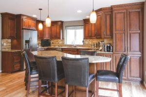 Advantage Cabinetry - Andale Door Profile. Maple with Café finish and Chocolate Glaze.