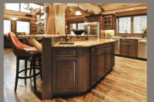 Add a distressed finish to your cabinets for that rustic look. Advantage Cabinetry - Benton Door Profile. Knotty Cherry with Salem Maple finish and distressing.
