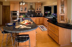 Advantage Cabinetry - Maple with Pecan Finish.