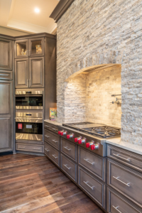Advantage Cabinetry - Maple with Stone Finish with Chocolate Glaze.