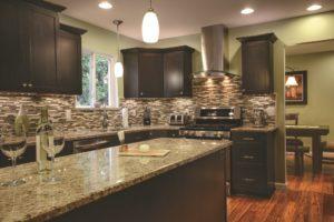 Advantage Cabinetry - Mission Door Profile. Maple with Espresso Finish.