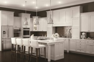 Advantage Cabinetry - Mission Door Profile. Maple with White Finish.