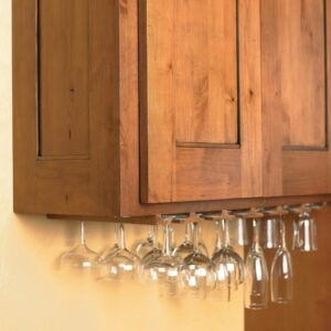 Access your stemware quickly and easily with this under-cabinet stemware rack.