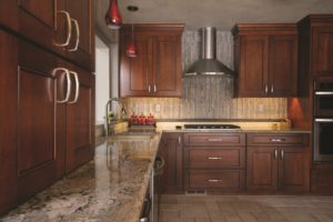Advantage Cabinetry - Windom Door Profile in Cherry Stain with Chocolate Glaze