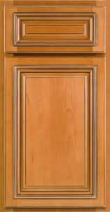 RiverRun Cabinetry Lenox Door Style in Cafe Finish