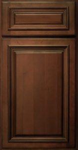 RiverRun Cabinetry Lenox Door Style in Chestnut Finish