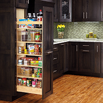 Wooden Pantry Pull Out